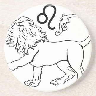 Leo zodiac horoscope astrology sign drink coasters