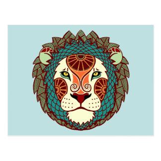 Leo Zodiac - Lion Postcard