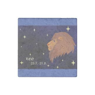 Leo Zodiac Marble Tile Magnet