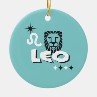 Leo Zodiac Modern Design Christmas Ornament