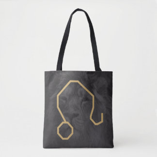 Leo Zodiac Sign | Custom Background Tote Bag