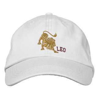 Leo Zodiac Sign Embroidery July 23 - August 22 Embroidered Hat