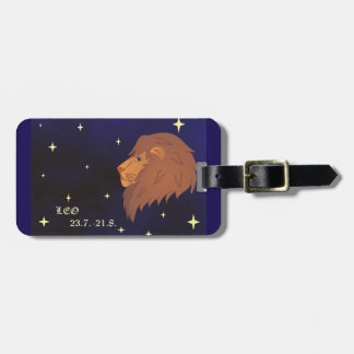 Leo zodiac sign luggage Tag