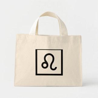 Leo Zodiac Sign Mini Tote Bag