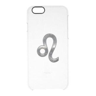 Leo Zodiac Sign on Green Digital Camo iPhone 6 Plus Case