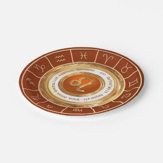 LEO Zodiac Sign Personality Traits Paper Plate