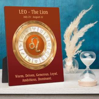 LEO Zodiac Sign Personality Traits Plaque