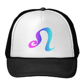 Leo Zodiac Sign Pink Blue Aqua Gradient Trucker Hat