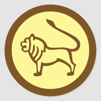 Leo Zodiac Sign Round Sticker