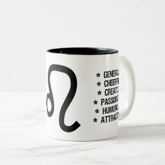 """Leo Zodiac Sign (""""the lion"""") Two-Tone Coffee Mug"""