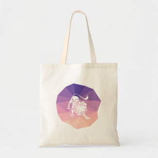 Leo zodiac sign tote bag modern purple background