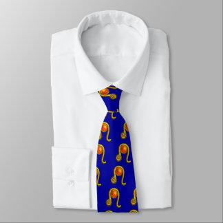 LEO / ZODIAC SIGN Yellow Topaz,Gold Blue Tie