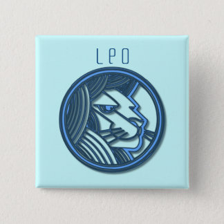 Leo Zodiac Square Pin