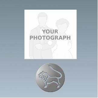 Leo Zodiac Star Sign Silver Premium Photo Sculpture