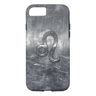 Leo Zodiac Symbol in Grunge Distressed Style iPhone 7 Case