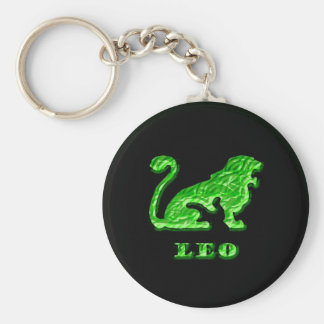 Leo Zodiac Symbol Key Ring