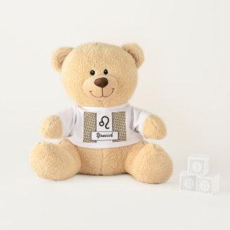 Leo Zodiac Symbol Standard by Kenneth Yoncich Teddy Bear