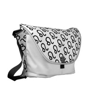 Leo Zodiac Symbol Standard Messenger Bags