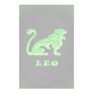 Leo Zodiac Symbol Stationery Paper