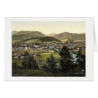 Leoben, general view, Styria, Austro-Hungary magni Card