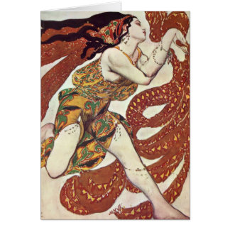 Leon Bakst-Costume design for a bacchante Card