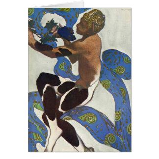Leon Bakst: Nijinsky's Faun Costume Greeting Card