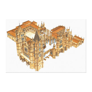 Leon Cathedral. Spain Canvas Print
