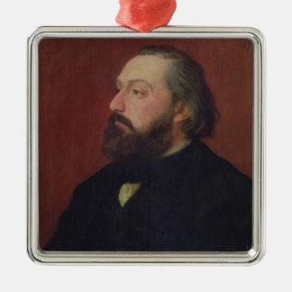 Leon Gambetta  1875 Silver-Colored Square Decoration