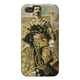 Leon Herrmann Magician ~ Vintage Magic Act iPhone 4 Covers