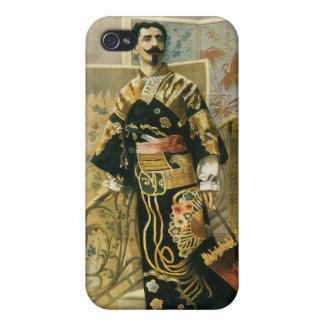 Leon Herrmann Magician ~ Vintage Magic Act iPhone 4 Covers