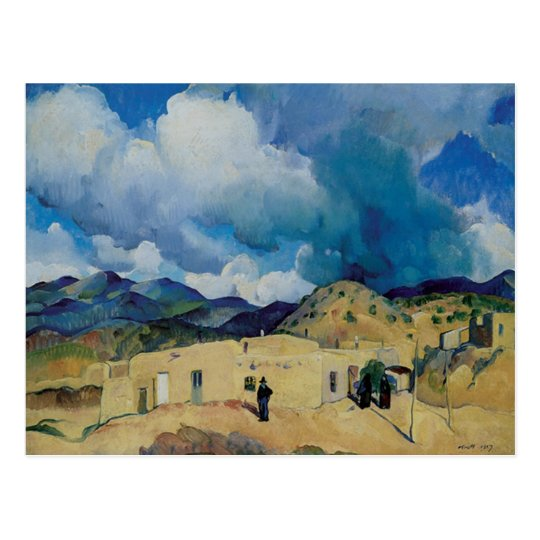 Leon Kroll Santa Fe Hills 1917 Postcard