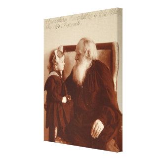 Leon Tolstoy with his granddaughter, Tatiana Canvas Print