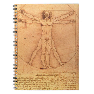 Leonardo Da Vinci Anatomy Study of human body Notebook