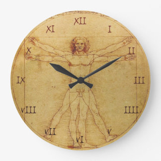 Leonardo Da Vinci Anatomy Study of human body Wallclocks