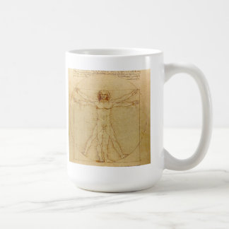 Leonardo da Vinci and Vitruvian Man Coffee Mug