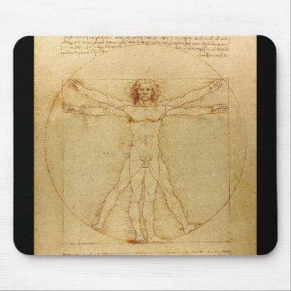 Leonardo da Vinci and Vitruvian Man Mouse Pad
