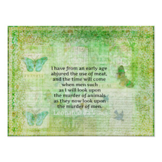 Leonardo da Vinci  Animal Rights quote vegan Poster