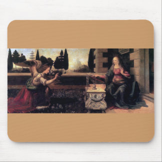 Leonardo Da Vinci Annunciation Mouse Pads