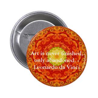 Leonardo da Vinci art quote 6 Cm Round Badge