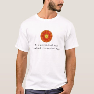 Leonardo da Vinci art quote T-Shirt