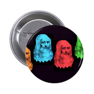 Leonardo Da Vinci Collage 6 Cm Round Badge