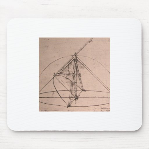 Leonardo da Vinci, design for a parabolic compass Mousepads