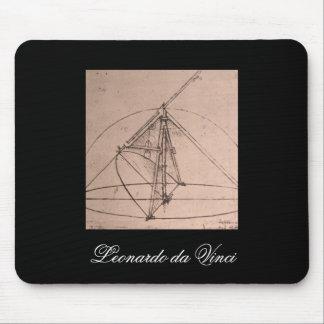 Leonardo da Vinci, design for a parabolic compass Mouse Pad