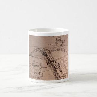 Leonardo da Vinci, design for an enormous crossbow Basic White Mug