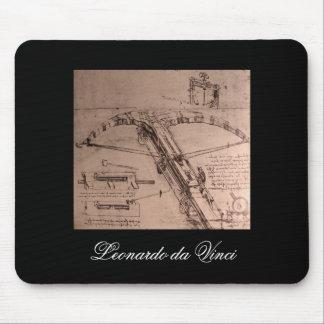 Leonardo da Vinci, design for an enormous crossbow Mouse Pad