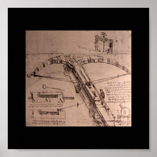 Leonardo da Vinci, design for an enormous crossbow