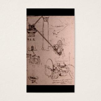 Leonardo da Vinci, drawings of machines Business Card