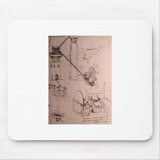 Leonardo da Vinci, drawings of machines Mouse Pad
