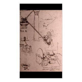 Leonardo da Vinci, drawings of machines Pack Of Standard Business Cards