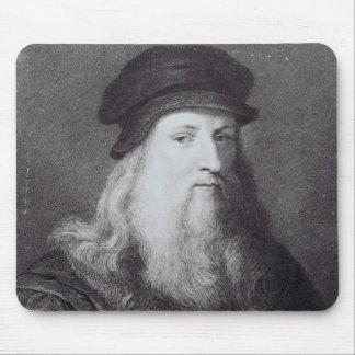 Leonardo da Vinci, engraved by Raphael Mouse Mat